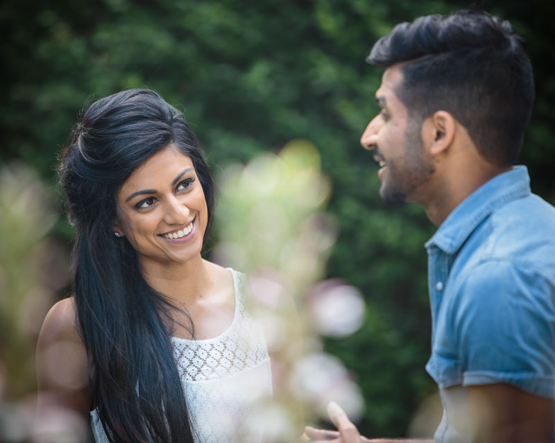 Engagement photography of young couple